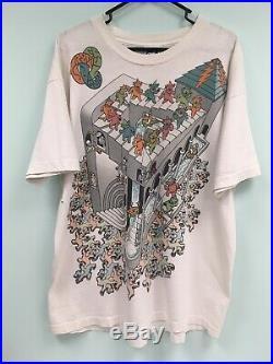 Vintage Grateful Dead M. C. Escher Dancing Bears 1993 All Over T-Shirt Mens XL