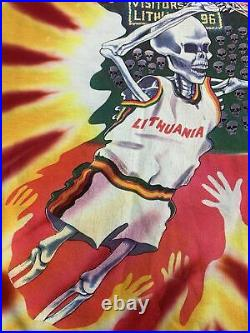 Vintage Grateful Dead Olympic Lithuania Basketball Tie Dye 1992 T-Shirt X-Large