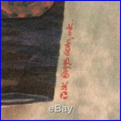 Vintage Grateful Dead Shirt L. L. Rain Liquid Blue Tie Dye Rare Large