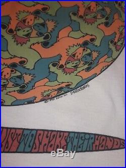 Vintage Grateful Dead Shirt M. C. Escher optical 1993 93 Large Bears