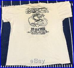 Vintage Grateful Dead Shirt Oregon Country Fair 80s Ice Cream Kid Thin Rock Band