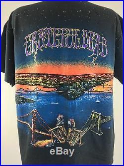 Vintage Grateful Dead Shirt San Francisco 1990 Hippie Boho All over Print XL