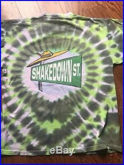 Vintage Grateful Dead Shirt XL Doo Dah Man Shakedown Street Tie Dye 1998 RARE