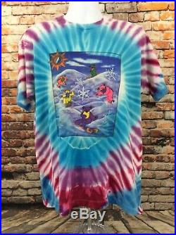 Vintage Grateful Dead Snowboard Tee Shirt Size XL 1990 Single Stitched
