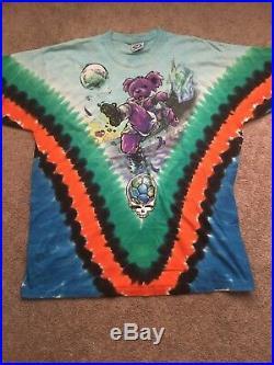 Vintage Grateful Dead Soccer Tee Shirt Size XXL Liquid Blue