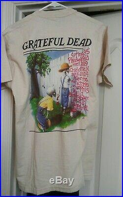 Vintage Grateful Dead Spring 1995 Straw Hat Skull Huck Finn T-shirt size L