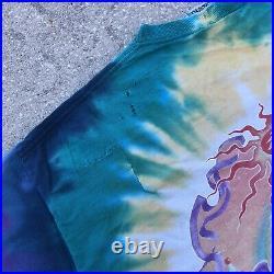 Vintage Grateful Dead St. Saint Stephen Liquid Blue T Shirt 1998 Original XL