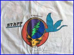 Vintage Grateful Dead Staff T Shirt Bill Graham Presents Shoreline 1987 L