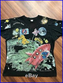 Vintage Grateful Dead Standing On The Moon All Over Print Shirt XL Extra Large