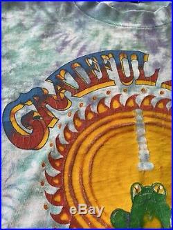 Vintage Grateful Dead Summer 1987 Frog Sun Skull Tie Dye T-Shirt Original 87 80s