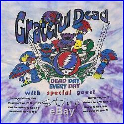Vintage Grateful Dead Summer 93 T-Shirt Head Skull Dancing Bear Tour Tie Dye