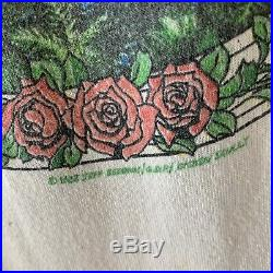 Vintage Grateful Dead Summer Tour 1984 T Shirt Rock Rare USA Raglan Medium