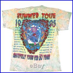 Vintage Grateful Dead Summer Tour 1995 T-shirt 30th Anniversary Dead Head Garcia