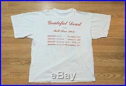 Vintage Grateful Dead T Shirt 1987 Concert T shirt Band T Shirt Band Tee Size XL
