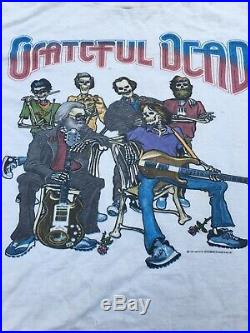 Vintage Grateful Dead T Shirt 1987 Concert T shirt Band T Shirt Band Tee Vtg