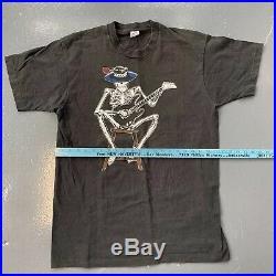 Vintage Grateful Dead T Shirt 90s VTG USA Single Stitch Skeleton Double Sided