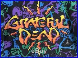 Vintage Grateful Dead T Shirt All Over Print Dead Space Dancing Skeltons XL 1992