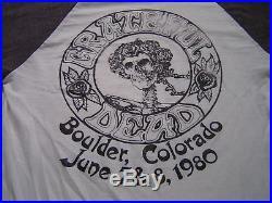 Vintage Grateful Dead T-Shirt Boulder Colorado 1980 High In The Rockies June 7-8