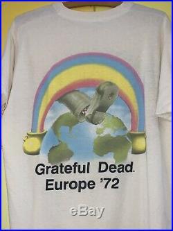 Vintage Grateful Dead T-Shirt Europe 72 Size XL fits like Large