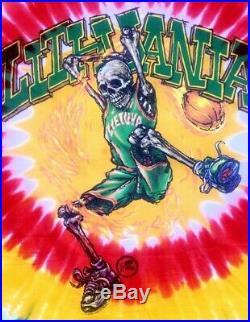 Vintage Grateful Dead T Shirt Men SZ XL Fit Lithuania Basketball Liquid Blue NR