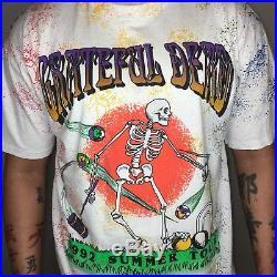 Vintage Grateful Dead T-shirt Summer 92 Tour Skeleton Deadstock