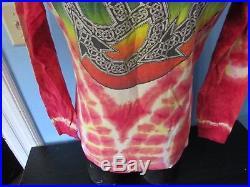 Vintage Grateful Dead Tie Dye Medium Long Sleeve Shirt Phillip Brown 1985 Rock
