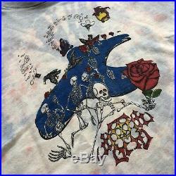 Vintage Grateful Dead Tie Dye Parking Lot Band T-Shirt Rare 80s