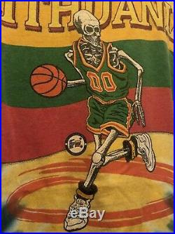 Vintage Grateful Dead Tie-Dye T Shirt Lithuania Basketball Olympics L