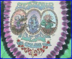 Vintage Grateful Dead Tie Dye Tee T-Shirt Top 1993 Charles Everard Campbell Plus