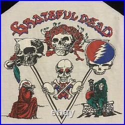 Vintage Grateful Dead Tour T Shirt Adult S Raglan Jerry Garcia 1978 Rare USA