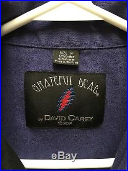 Vintage Grateful Dead by David Carey Button Up Short Sleeve Shirt Size Medium