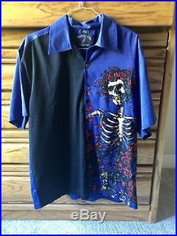 Vintage Grateful Dead by David Carey Button Up Short Sleeve Shirt Size XL