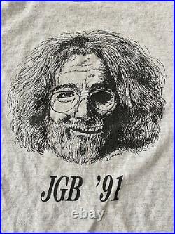 Vintage Jerry Garcia Band / Grateful Dead Shirt 1991 Jerry Skull Portrait