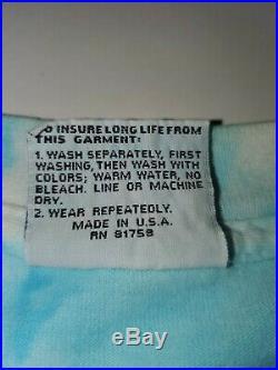 Vintage Jerry Garcia Band T Shirt Grateful dead Tie Dye JGB 1991 Liquid Blue XL