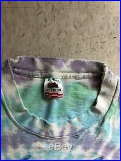 Vintage Jerry Garcia Band T-Shirt Tie Dye Sz XL 1990 Hawaiian Tour Grateful Dead
