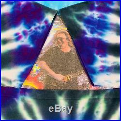 Vintage Jerry Garcia Tie Dye T-Shirt Grateful Dead Head 1990's Memorial RIP