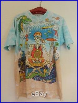Vintage Joey Mars Grateful Dead T-shirt Large Beach Skeleton Large 1992
