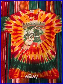 Vintage Liquid Blue Rare Grateful Dead Lithuania 1992 Barcelona Dye Shirt Size L
