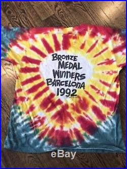 Vintage Lithuania Barcelona 92 Olympics Grateful Dead Tie Dye T Shirt XL