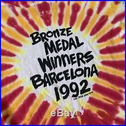 Vintage Lithuania Grateful Dead T Shirt 1992 XL Barcelona Bronze Medal Winners