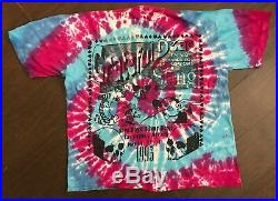 Vintage Mens Grateful Dead Las Vegas Tie Dye T Shirt Size XL 1993
