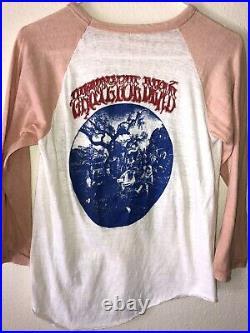Vintage Mens XS Grateful Dead 1969 Aoxomoxoa 60s 70s Raglan Concert Tour T Shirt