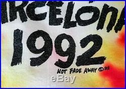 Vintage Original 1992 Lithuania Basketball Tie Dye Grateful Dead T Shirt XL USA