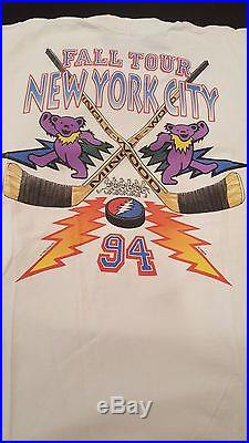 Vintage Original Grateful Dead Fall Tour New York City T-Shirt- Large
