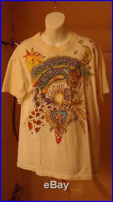 Vintage Original Grateful Dead Summer of 1992 Tour Liquid Blue Tee Shirt (Large)