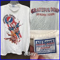 Vintage RARE 1995 Grateful Dead Spring Tour Rhythm Devils Mardi Gras T Shirt 2XL
