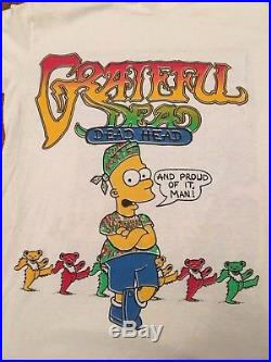 Vintage RARE M Grateful Dead Save the Grateful Earth Bart Simpson Shirt
