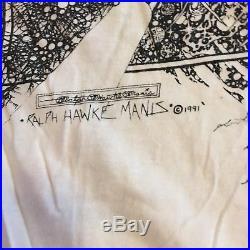 Vintage Ralph Hawke Manis Parking Lot T-Shirt Grateful Dead Bob Marley 1991 90s