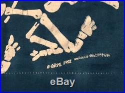 Vintage Rare 1992 GRATEFUL DEAD Brockum Collection T-Shirt SZ Large Liquid Blue