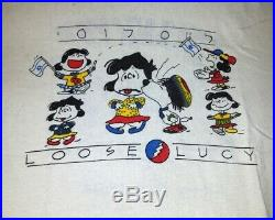 Vintage Rare Grateful Dead Israel Loose Lucy T-shirt Peanuts Snoopy